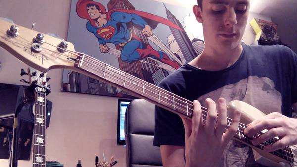 bass cover funky town
