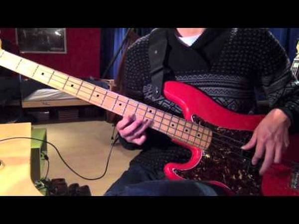 bass cover paradise city