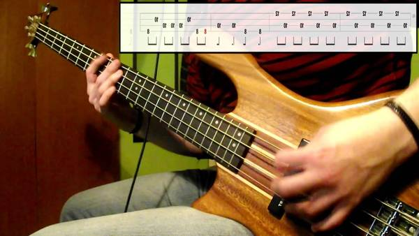 enter sandman bass cover with tabs