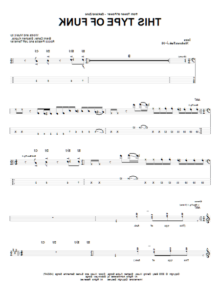 bass tab highway to hell
